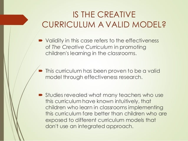 the creative curriculum model  diane trister dodge  1988
