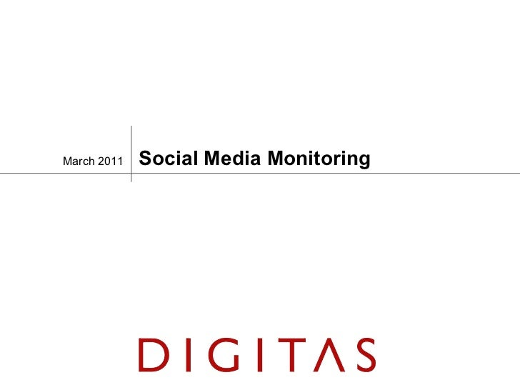 Social Media Monitoring March 2011