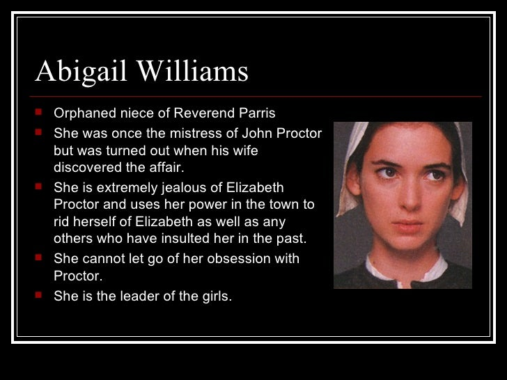Abigail williams the crucible essay