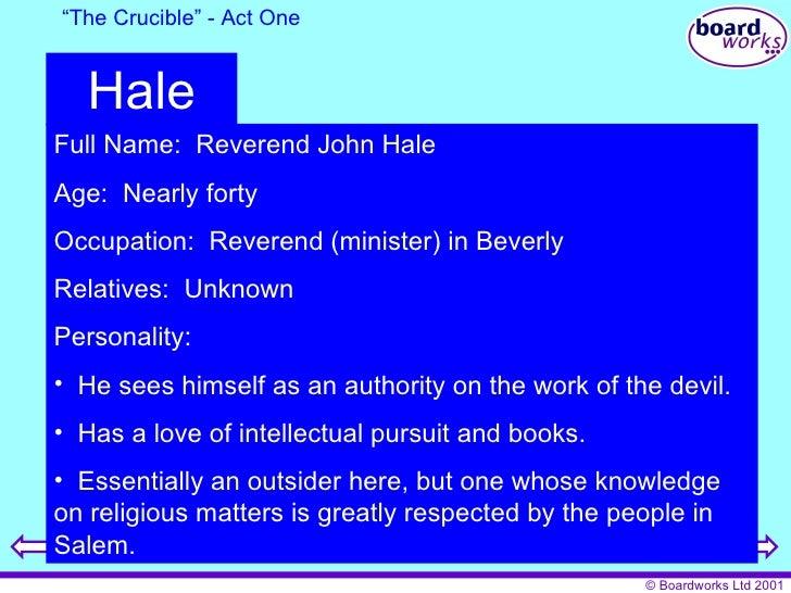 Reverend hale the crucible essay