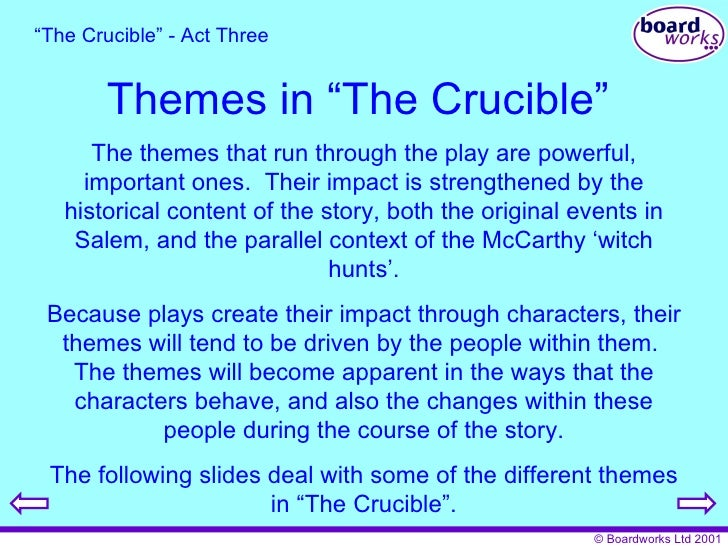 essays of the crucible The Crucible