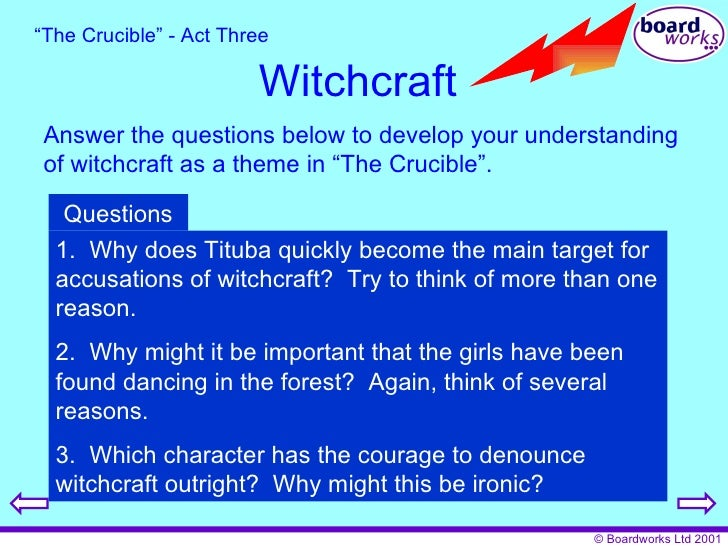 essay questions for the crucible