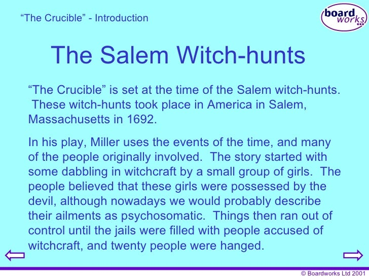 Allegory crucible essay