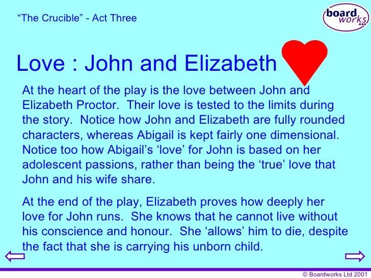 Elizabeth and john proctor essay
