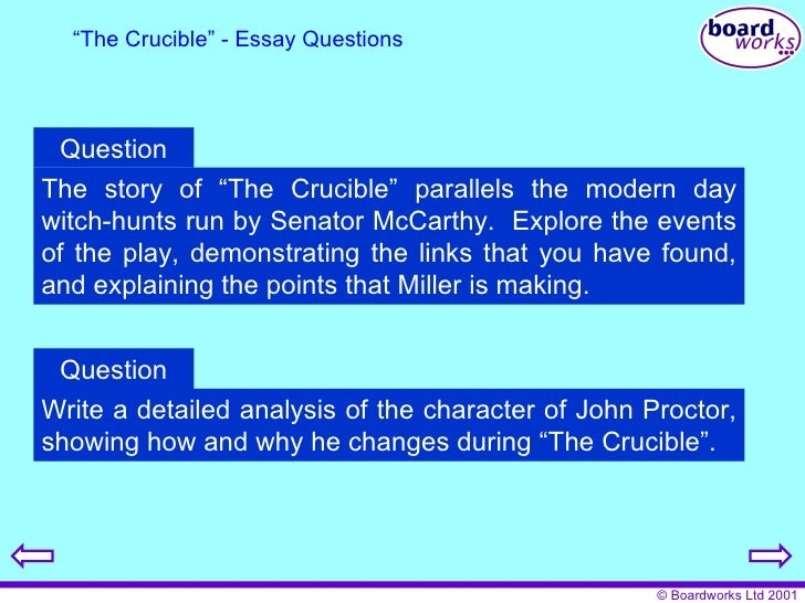 the crucible act i essay questions