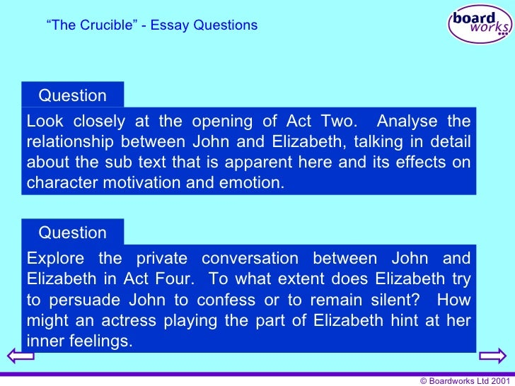 the crucible 10 essay The crucible this essay the crucible and other 63,000+ term papers, college essay examples and free essays are available now on reviewessayscom autor.