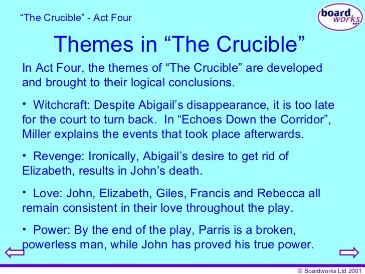a conclusion for the crucible essay The crucible essay questions - free download as word doc (doc), pdf file (pdf), text file (txt) or read online for free an essay following reading the crucible by.