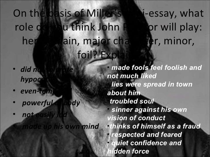 John proctor the crucible essay