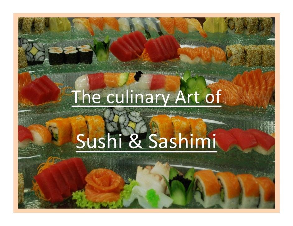The culinary Art of  Sushi & Sashimi