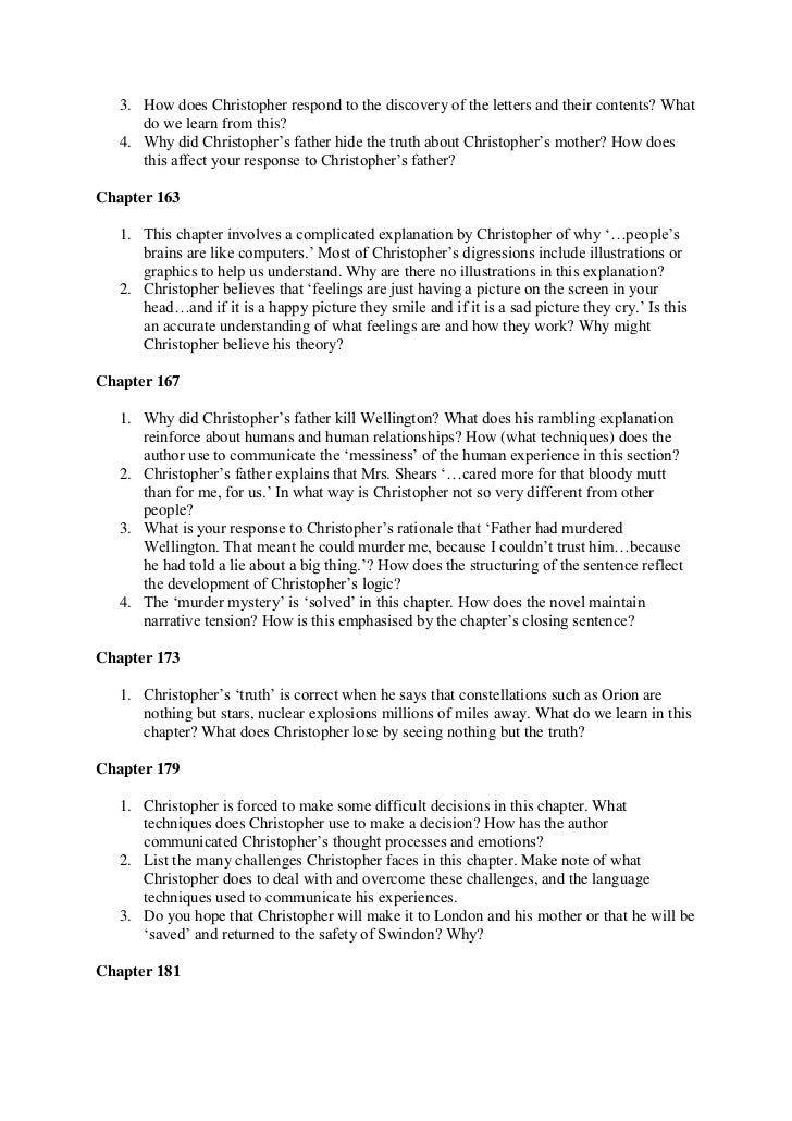 curious incident of the dog in the nighttime essays The curious incident of the dog in the night-time (sparknotes literature guide) by mark haddon making the reading experience fun when a paper is due, and dreaded exams loom, here's the lit-crit help students need to succeed.