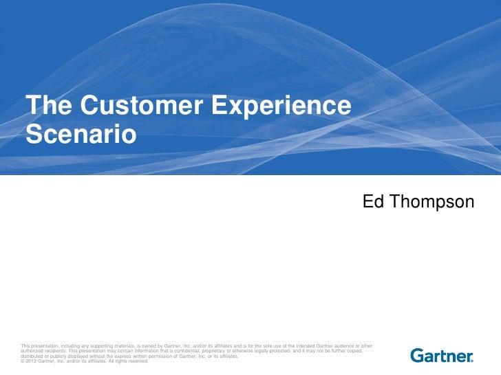The Customer Experience Scenario