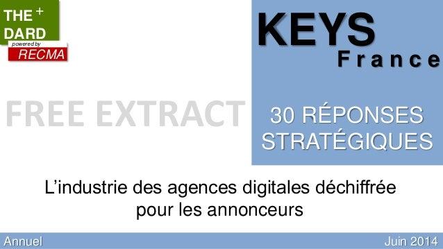 RECMA TOOL Quaterly updated Annuel Juin 2014 L'industrie des agences digitales déchiffrée pour les annonceurs THE DARD + R...
