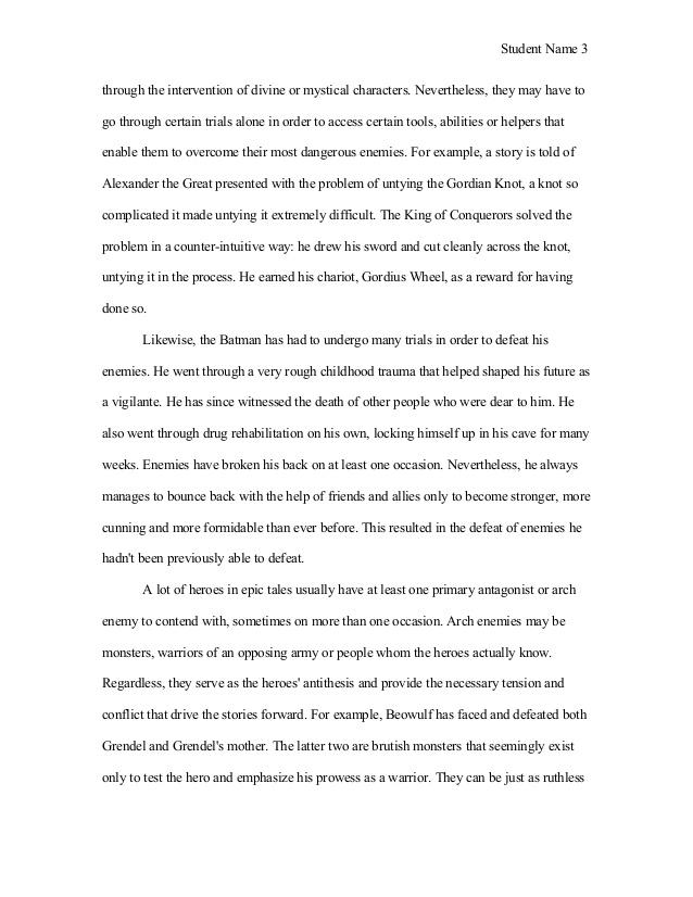 Qualities of a hero essay