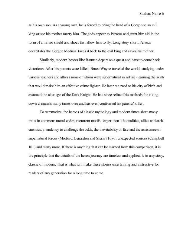 How can i make this mythology essay better?