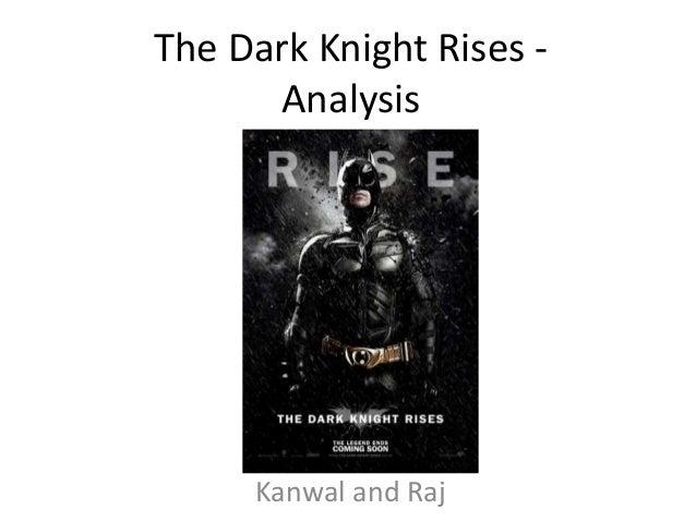 The Dark Knight rises -analysis