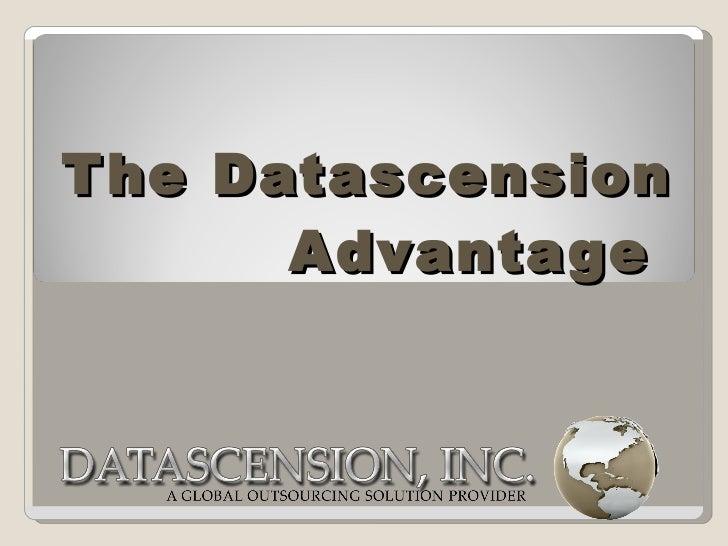 The Datascension Advantage   2012