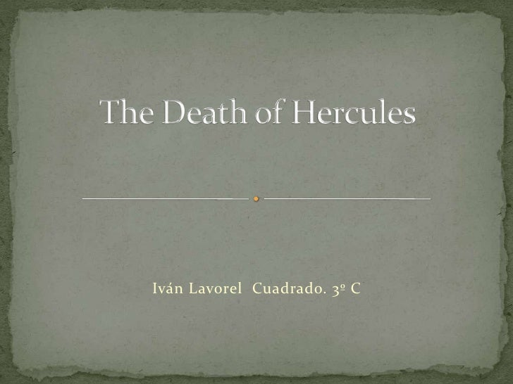 The Death Of Hercules