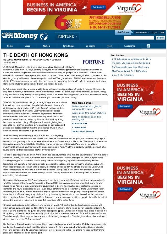 Set Edition  Home  Video  Markets  Term Sheet  Economy  Tech  THE DEATH OF HONG KONG  International  Leadership  Top Stori...