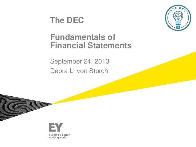 The DEC Education: Understanding Financials