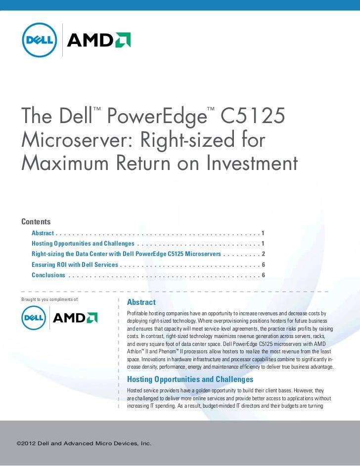 The Dell PowerEdge C5125                     ™                                                                        ™ Mi...