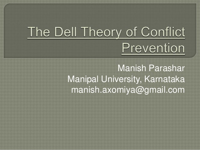 """the dell theory conflict Almost 15 years ago, the senior author of this chapter and another sociologist, joyce elliott foss, presented a paper entitled, """"in search of the 'missing."""