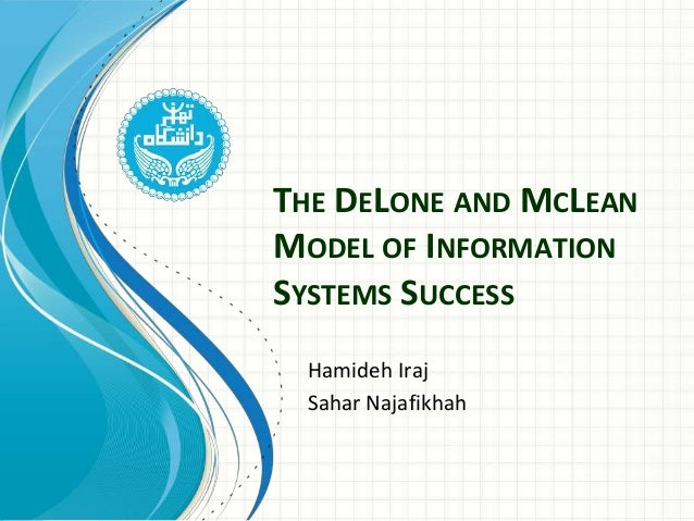 """information systems success the quest for However, there is no explanation on how to connect those six independent variables in summary, the article """"information systems success: the quest for dependent variable"""" by delone and mclean (1992) lights an interest on the is success determination from this article, we learn which factors are proved to predict a success of is projects."""