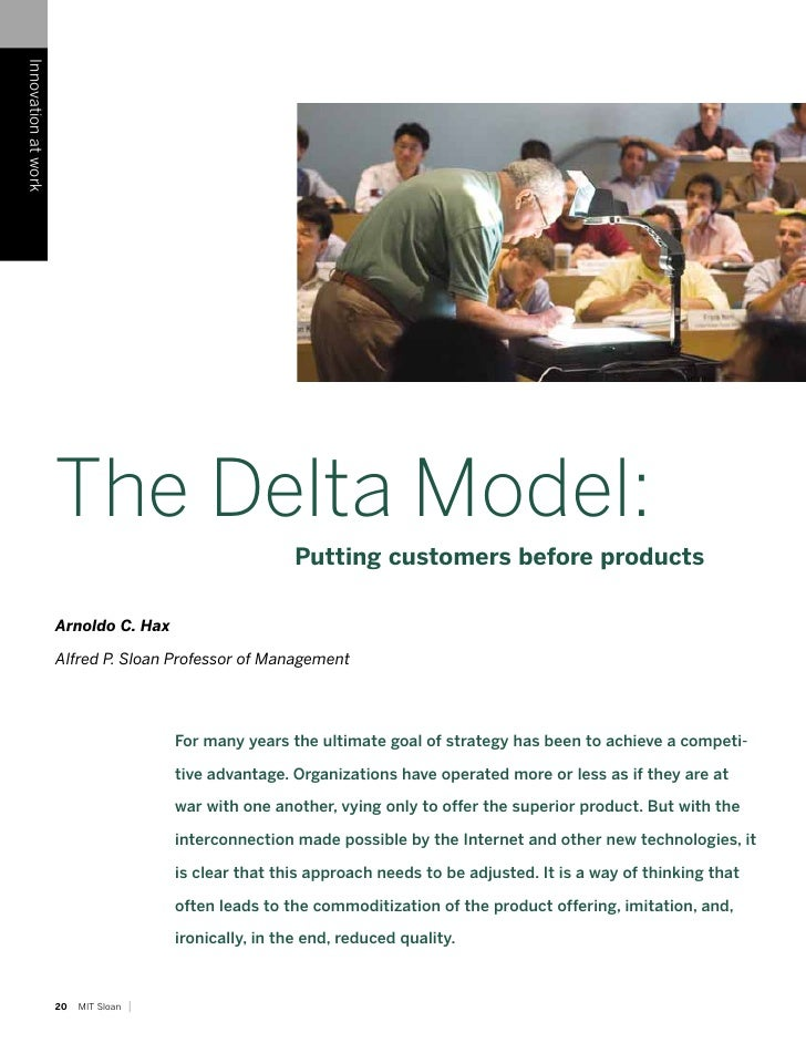 Innovation at work                          The Delta Model:                                                            Pu...