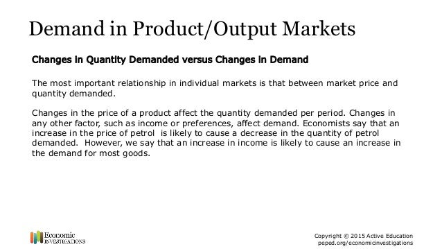 factors affecting demand of a product