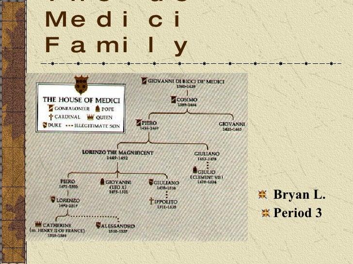 The de Medici Family <ul><li>Bryan L. </li></ul><ul><li>Period 3 </li></ul>