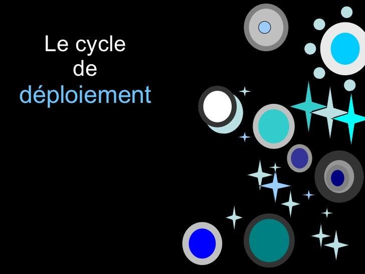 Le cycle de  déploiement