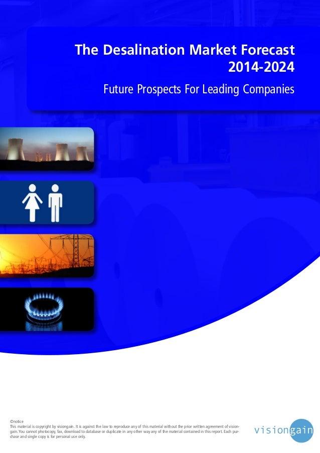 The Desalination Market 2014 2024