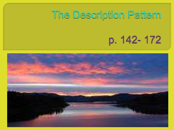 The Description Patternp. 142- 172<br />