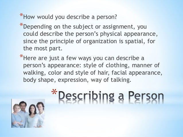 Essay Describe A Person