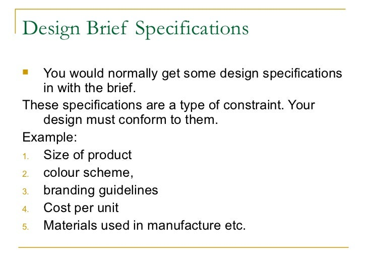 Hsc Design And Technology The Design Brief