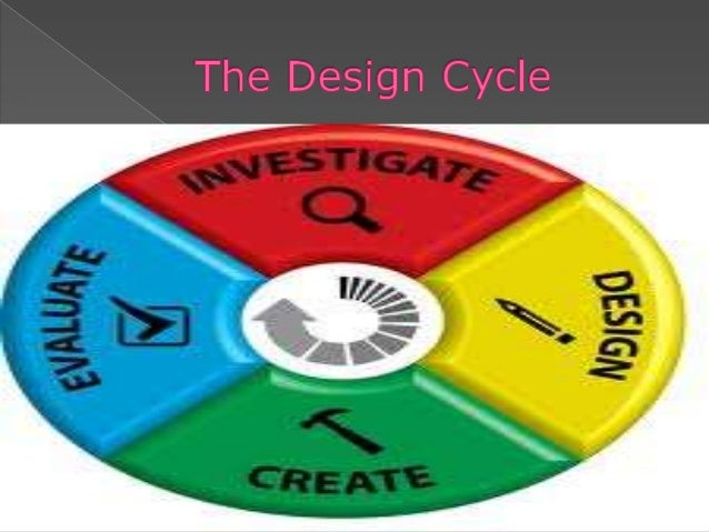  The first step of the design cycle is  Investigate. In this area, you need to research or  gather information to get a ...