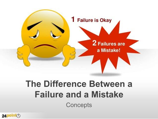 1 Failure is Okay 2 Failures are a Mistake!