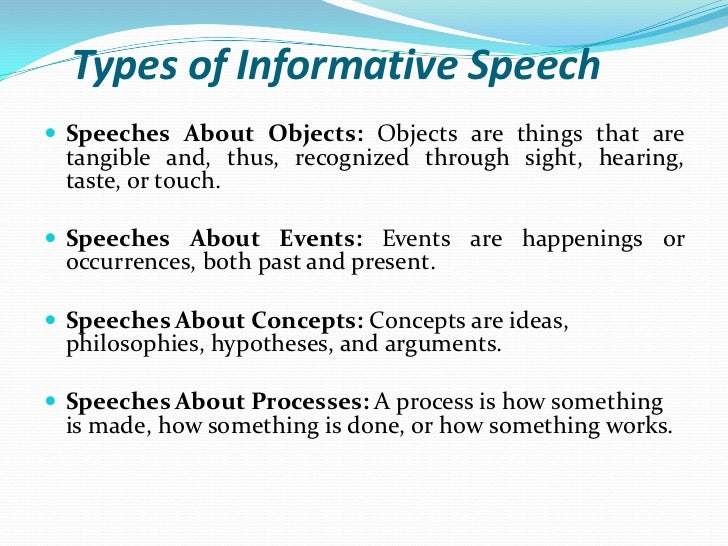 """types of speeches essay types of speeches """"there are always three speeches for every one you actually gave: the one you practiced, the one you gave, and the one you wish you gave""""."""