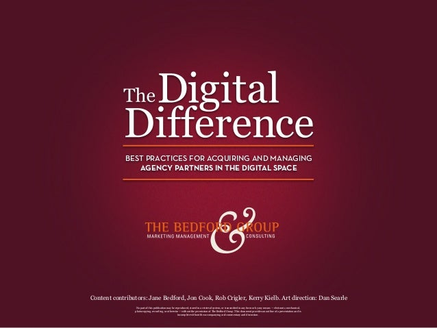 The Digital Difference: Best practices for selecting and managing digital agency partners