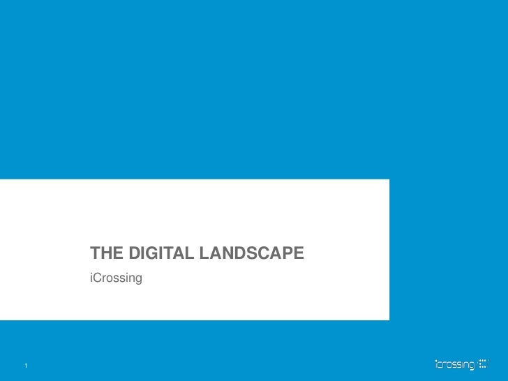 THE DIGITAL LANDSCAPE<br />iCrossing<br />1<br />