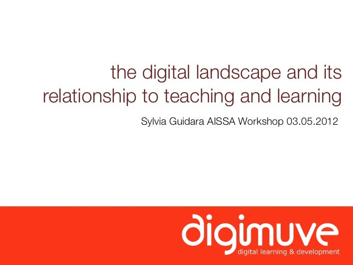 the digital landscape and itsrelationship to teaching and learning            Sylvia Guidara AISSA Workshop 03.05.2012