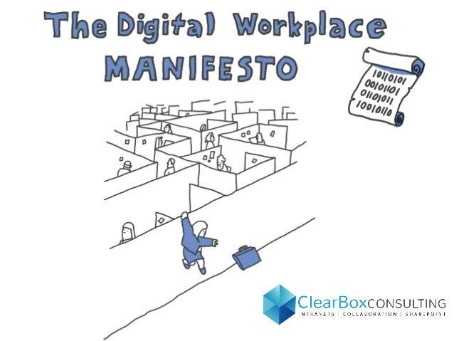 The digital workplace manifesto - Printable Poster