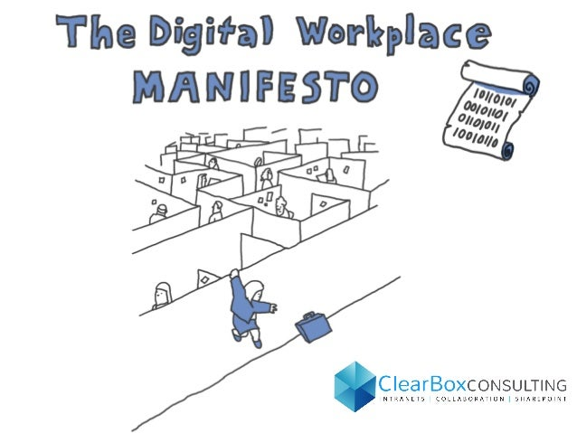 The digital workplace manifesto - Printable Poster