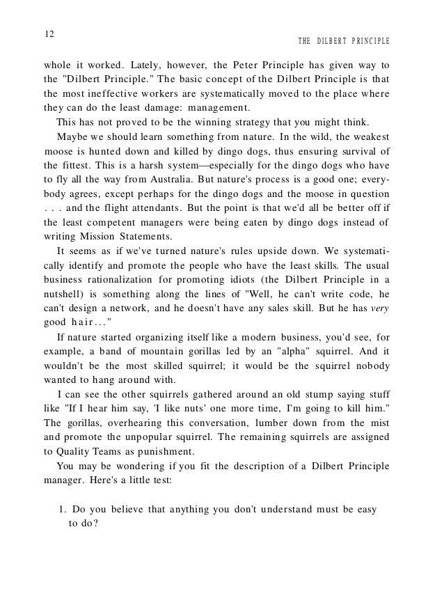 the dilbert principle scott adams pdf