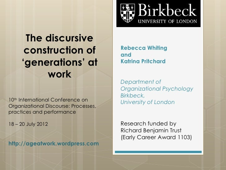 The discursive      construction of                  Rebecca Whiting                                       and     'genera...