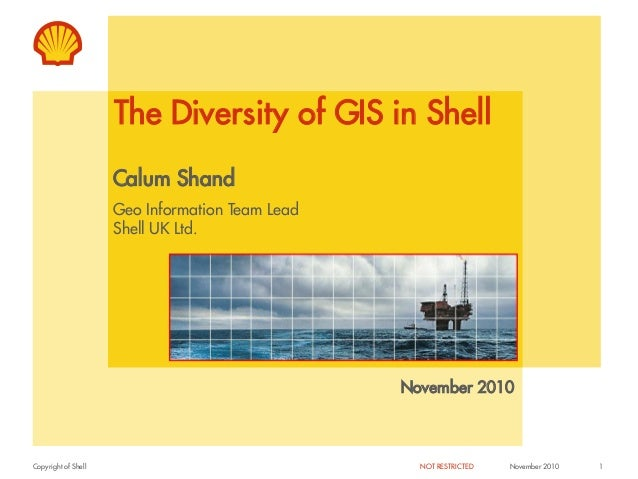 The Diversity of GIS in Shell                     Calum Shand                     Geo Information Team Lead               ...