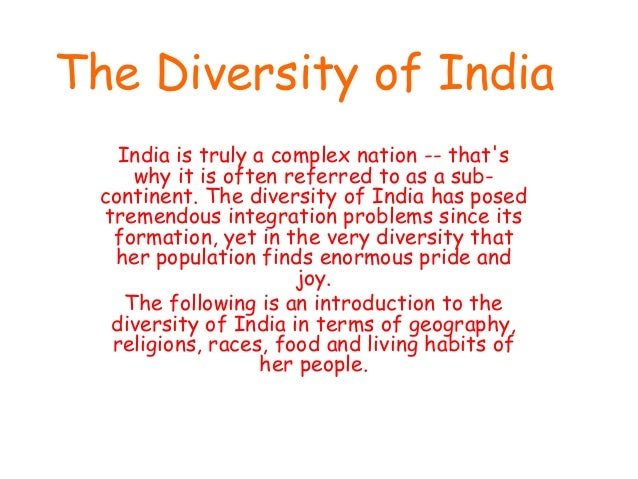 The diversity of india