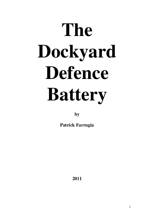 The dockyard defence battery by Patrick Farrugia