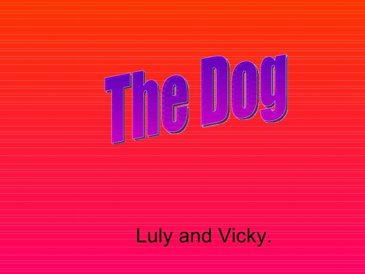 The dogs luli and vicky
