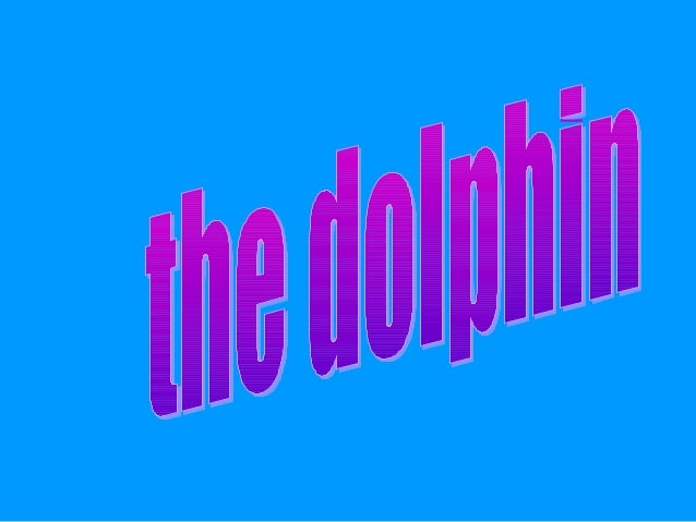 The dolphin lives in the seaIt´s grey andblueIt´s big andbeautifulIt´s 5 to 9metres long