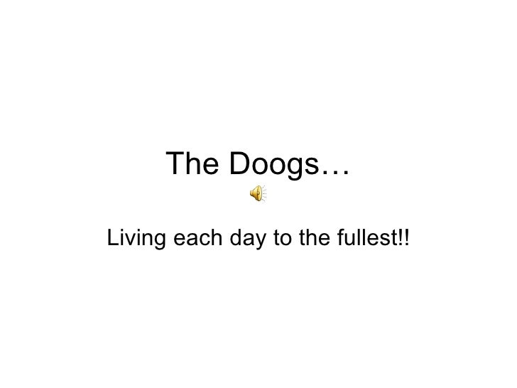 The Doogs… Living each day to the fullest!!